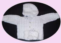 Post Stitch Baby Sweater Set